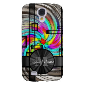 Abstract stained glass and monogram galaxy s4 case