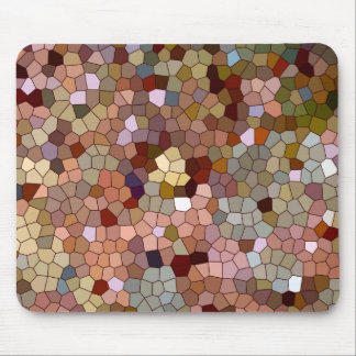Abstract Stained Glass Copper Silver Metal Coins Mouse Pad