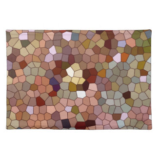 Abstract Stained Glass Copper Silver Metal Coins Place Mat