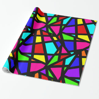 Abstract Stained Glass Geometric Wrapping Paper