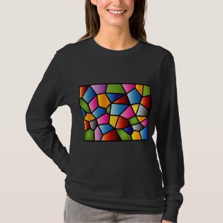 Abstract Stained Glass Ladies' long sleeved top