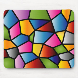 Abstract Stained Glass Mousepad