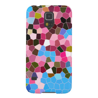 Abstract Stained Glass Pink Dark Green Blue Mosaic Cases For Galaxy S5