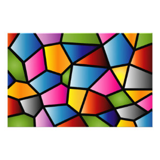 Abstract Stained Glass Stationary Personalized Stationery