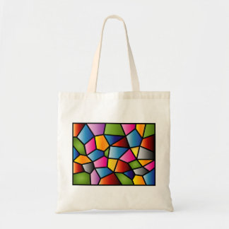 Abstract Stained Glass Tote