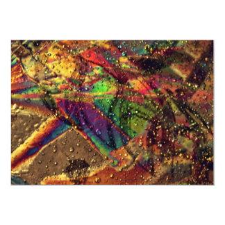 Abstract Stamina 5x7 Paper Invitation Card