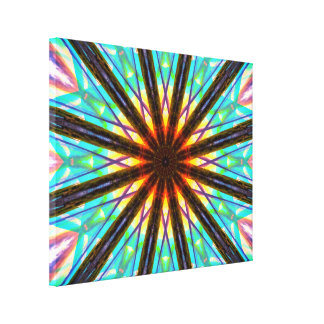 Abstract Star Canvas Print