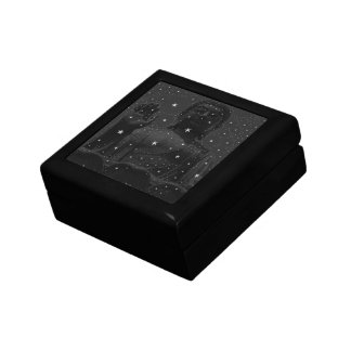 abstract star constellations Praying Buddha Zen Small Square Gift Box