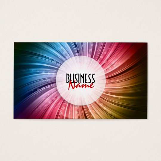 Abstract Starburst Business Card