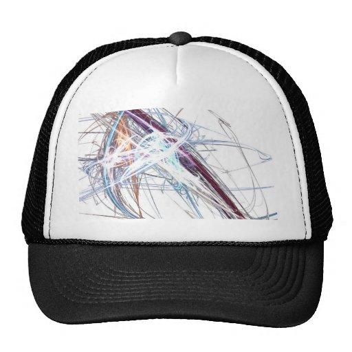 abstract starburst light formation design fractal hats
