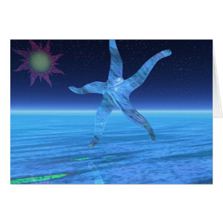 Abstract Starfish Card