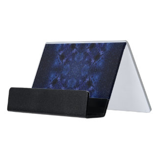 Abstract Starry Sky Desk Business Card Holder