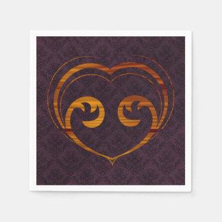 Abstract Steampunk Heart Paper Serviettes