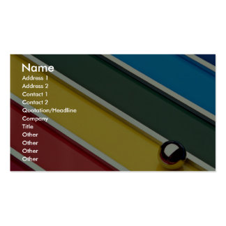 Abstract Steel ball and rods on multicolored acryl Business Cards