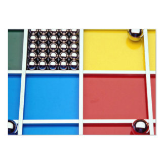 Abstract Steel balls and rods on multicolored acry Personalized Announcement