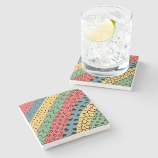 abstract stone coaster