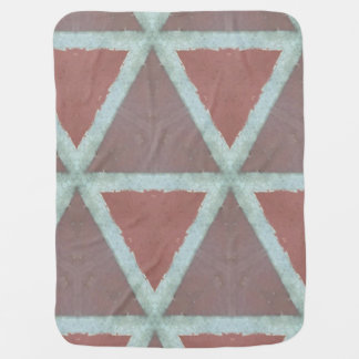 Abstract stone triangle wall baby blanket