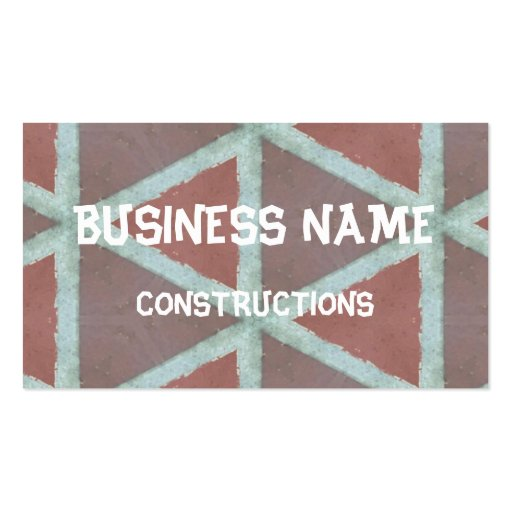 Abstract stone triangle wall business card template
