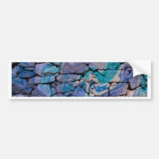 abstract stones blue bumper sticker