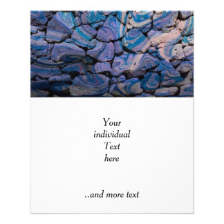 abstract stones blue full color flyer