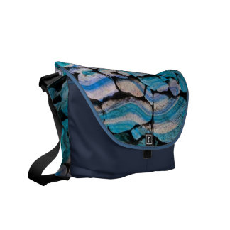 abstract stones blue messenger bags