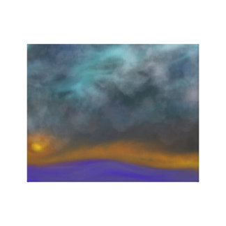 Abstract Storm Dusk Canvas Print