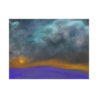 Abstract Stormy Sky at Dusk Canvas Print