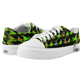 Abstract strange different pattern low tops