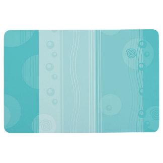 Abstract Stripe Nautical Modern Light Blue Floor Mat