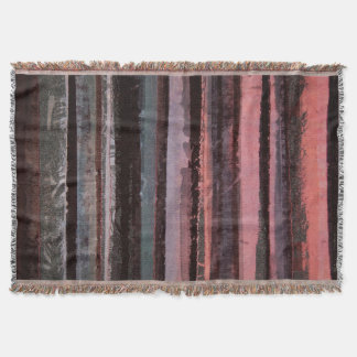 Abstract Striped Throw
