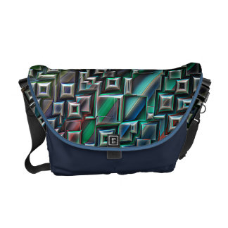 Abstract Stripes Geometry Courier Bag