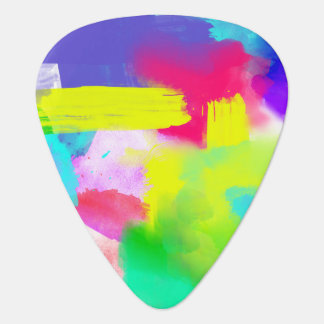 Abstract Stripes Neon Artistic Watercolor Pattern Plectrum