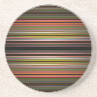 Abstract stripes pattern beverage coasters