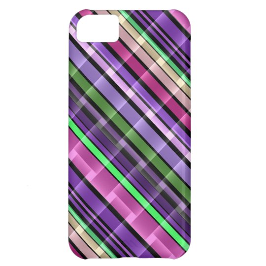 Abstract Stripes Pattern (Purple, Pink, Green) 2 iPhone 5C Case