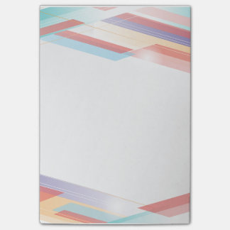 Abstract Stripes Post It Notes