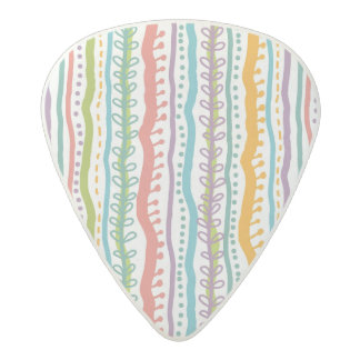 Abstract Stripes Vertical Pattern Acetal Guitar Pick