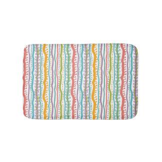 Abstract Stripes Vertical Pattern Bath Mat