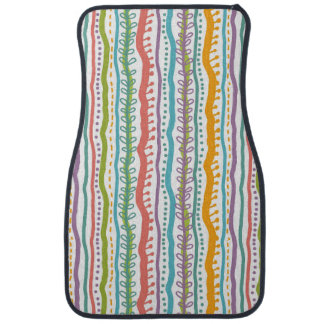 Abstract Stripes Vertical Pattern Car Mat