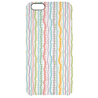 Abstract Stripes Vertical Pattern Clear iPhone 6 Plus Case