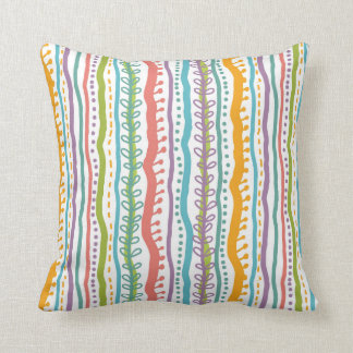 Abstract Stripes Vertical Pattern Cushion
