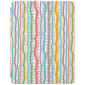 Abstract Stripes Vertical Pattern iPad Cover