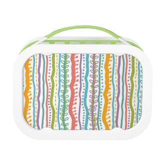 Abstract Stripes Vertical Pattern Lunch Box