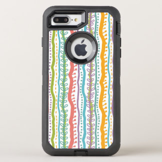 Abstract Stripes Vertical Pattern OtterBox Defender iPhone 8 Plus/7 Plus Case