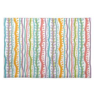 Abstract Stripes Vertical Pattern Placemat