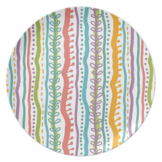 Abstract Stripes Vertical Pattern Plates