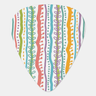 Abstract Stripes Vertical Pattern Plectrum