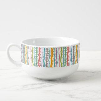 Abstract Stripes Vertical Pattern Soup Mug