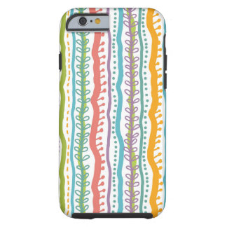 Abstract Stripes Vertical Pattern Tough iPhone 6 Case