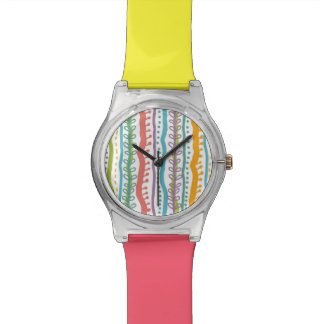 Abstract Stripes Vertical Pattern Watch