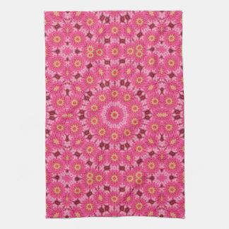 abstract summer tea towel